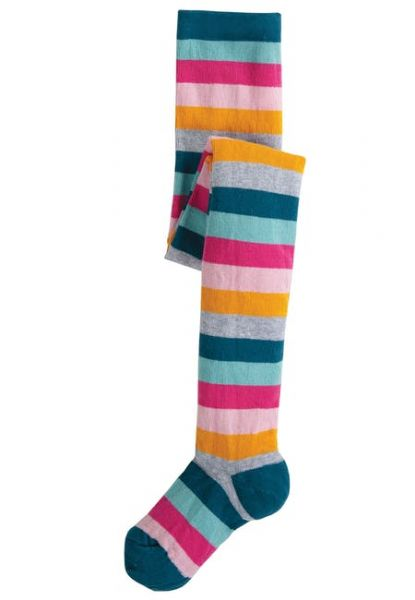 Frugi Little Norah Tights Cosmic Stripe